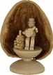 Standing Miniature Guitar Player in Walnut Shell by Holzwerkstatt Gernegross in Dorfchemnitz