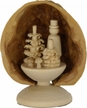 Standing Miniature Mushroom Collector in Walnut Shell by Holzwerkstatt Gernegross in Dorfchemnitz