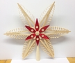 Red and Natural Wooden Tree Topper by Martina Rudolph in Seiffen, Germany