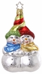 Tangled for Two Snowman Ornament by Inge Glas