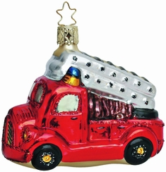 To the Rescue Firetruck Ornament by Inge Glas