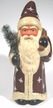 """""""Touched by Snow"""" Santa Paper Mache Candy Container"""