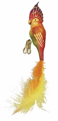 Tropical Parrot Ornament by Inge Glas