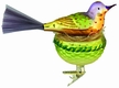 Tropical Song Bird Ornament by Inge Glas