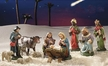 Twelve Piece Nativity Set, 9cm Scale, Paper Mache Figurines by Marolin