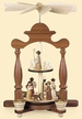Two Tier Nativity with Shepherd and Sheep Pyramid by M�ller