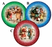 "Vintage 10cm (4"") Decoupage Cardboard German Christmas Balls by Nestler - $7.50 Each"