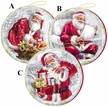 "Santa Claus 10cm (4"") Decoupage Cardboard German Christmas Balls by Nestler - $7.50 Each"