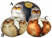 Owl Pair Egg by Peter Priess Kunstgewerbe - $10.50 Each