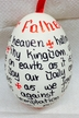Austrian Egg with The Lord's Prayer in English by Peter Priess Kunstgewerbe