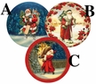 "Nicholas 10cm (4"") Decoupage Cardboard German Christmas Balls by Nestler - $7.50 Each"