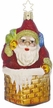 Up on the Rooftop Santa Ornament by Inge Glas