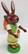 Mamma Rabbit with Baby in Basket Wooden Figurine by Thomas Preissler