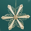 Wooden Snowflake Ornament by Martina Rudolph in Seiffen, Germany