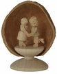 Standing Miniature Lovers in Walnut Shell by Holzwerkstatt Gernegross in Dorfchemnitz
