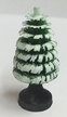 """4cm (1 1/2"""") Hand Carved Green Tree with Trunk and Snow"""