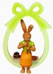 Girl Rabbit with Carrot Large Hanging Ornament by Erzgebirgische Holzkunst Gahlenz GmbH RuT in Oederan