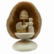 Standing Miniature Mother & Baby in Walnut Shell by Holzwerkstatt Gernegross in Dorfchemnitz