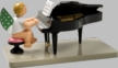 Angel with Opened Baby Grand Piano Wooden Figurine by Wendt and Kuhn