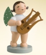 Angel with Lyre Wooden Figurine by Wendt and Kuhn