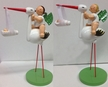Angel on Stork with Baby Girl Wooden Figurine by Wendt and Kuhn - $92 Each