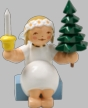 Marguerite Angel with Tree & Candle Wooden Figurine by Wendt und Kuhn