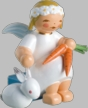Marguerite Angel with Hare & Carrot Wooden Figurine by Wendt und Kuhn