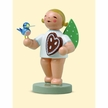 Angel with Gingerbread & Bird Wooden Figurine by Wendt and Kuhn