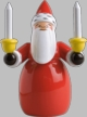 Santa with Candles Wooden Figurine by Wendt and Kuhn