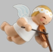 Hanging Marguerite Angel with Violin Wooden Ornment by Wendt und Kuhn