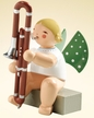 Angel with Contrabasson Wooden Figurine by Wendt and Kuhn