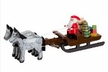 Santa & Toys in Horse Drawn Sled made by Holzwarenfabrikation Joachim Hoyer in Kurort Seiffen