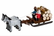Couple with Logs in Horse Drawn Sled made by Holzwarenfabrikation Joachim Hoyer in Kurort Seiffen