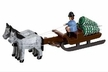 Man Pulling Trees in Horse Drawn Sled made by Holzwarenfabrikation Joachim Hoyer in Kurort Seiffen
