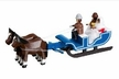 THE CHRISTMAS HAUS - Cozy Couple Riding in Horse Drawn Sled by Holzwarenfabrikation Joachim Hoyer in Kurort Seiffen
