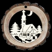 Country Church Wood Ornament by  Wandera GmbH