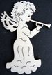 Angel with Trumpet Wood Ornament by Wandera GmbH