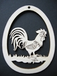 Rooster Wood Ornament by Wandera GmbH