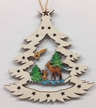 Tree with Deer Wood Ornament by  Wandera GmbH