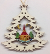 Tree with Church of Seiffen Wood Ornament by  Wandera GmbH
