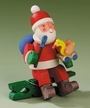 Santa with Duck Clip On Ornament by Graupner Holzminiaturen in Crottendorf-Erzgebirge