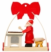 Arch & Bow with Santa Baking Ornament by Graupner Holzminiaturen in Crottendorf-Erzgebirge