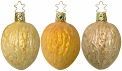 Walnut Ornament by Inge Glas $8 Each