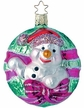 Welcoming Winter Snowman Ornament by Inge Glas