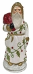 White with Holly Leaves, One of a Kind Paper Mache Candy Container by Ino Schaller