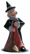 Witch with Broom Paper Mache Candy Container by Ino Schaller