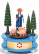 Woman with Pigs Music Box from the Erzgebirge