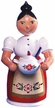 Woman with Soup Tureen Smoker, Painted