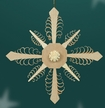 Wooden Snowflake Ornament by Martina Rudolph