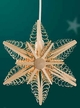 "Wooden Star Light Wall or Window Decoration by Martina Rudolph, 23.5 cm (9 1/4"")"